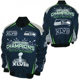Seattle Seahawks superbowl jacket, seahawks cotton twill superbowl jacket